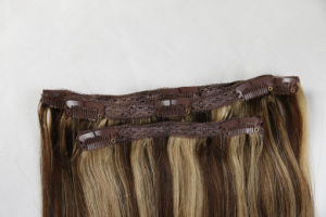 "Premium Quality 100% Human Hair Real Remy Clip-in Hair Extensions 20"" Color: Brown, 10PCS Set pictures & photos"