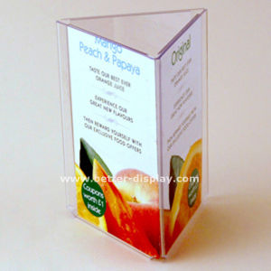 Wholesale Restaurant Menu Display Stand with Logo (BTR-I6047) pictures & photos