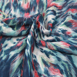 Polyester Printing Blue Scarf Fashion Accessory Ladies Woven Shawl pictures & photos