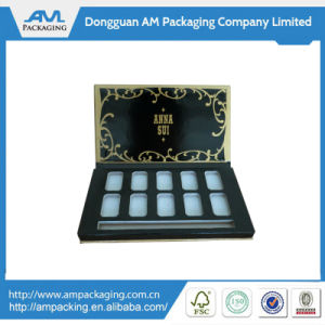 Fancy Packaging Makeup Shadow Box Wholesale Black Palette with Mirror pictures & photos