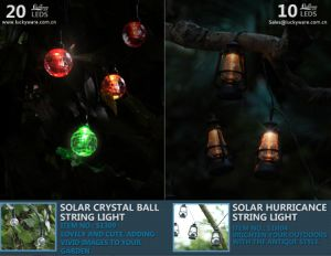 Solar Crystal Ball String Light with 20 LEDs pictures & photos