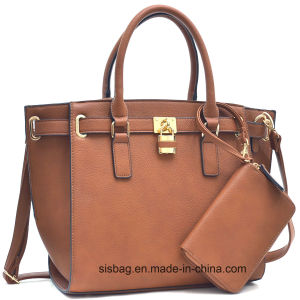 Fashion Litchi Grain PU Leather Women Bag Designer Lady Handbag pictures & photos