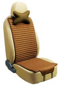 Car Seat Cover Flat Shape Double Sides Use with Linen and Pleuche-Brown pictures & photos