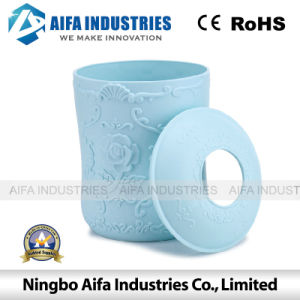 Round Plastic Tissue Box Injection Mould with Different Colour