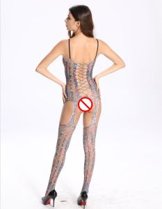 Sexy Camouflage Ladies Full Body Stockings with Hollow out Design pictures & photos