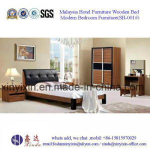 Foshan Factory Wooden Bed Modern Bedroom Furniture Sets (SH-002#) pictures & photos