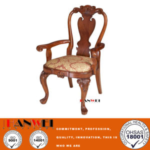 Modern Solid Wooden Furniture Dining Chair with Armrest pictures & photos