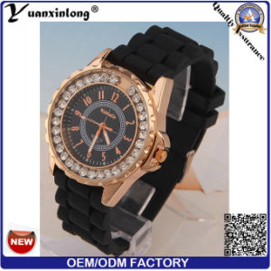 Yxl-164 Promotional Fashion Diamond Silicone Ladies Watch Sport Ladies Watches Gift Geneva Wrist Watch Wholesale Factory pictures & photos