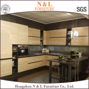 L Shape Particle Board Faced Melamine Cabinet Kitchen Furniture pictures & photos