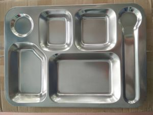 Food Grade Stainless Steel Mess Tray /Fast Food Tray pictures & photos