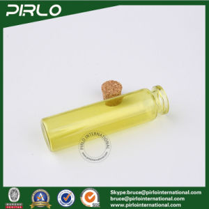 10ml 20ml Yellow Color Glass Vial with Cork Pharmaceutical Empty Glass Bottle Wholesale Perfume Essence Oil Glass Cork Bottle pictures & photos