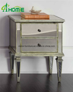 Silver Edge Mirrored Nightstand Table with 3 Drawers pictures & photos