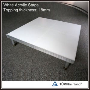 White Acrylic Stage Platform Glass Truss Stage pictures & photos