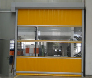 Exterior Motorized High Speed PVC Fast Rapid Rolling Shutter Door pictures & photos