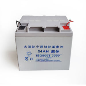12V Solar Battery 24ah for Solar Powered System pictures & photos