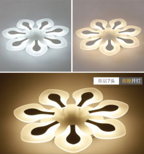 Acrylic Flower LED Ceiling Light Modern Lighting Guarantee 100%