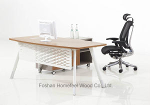 Modern Business Office Simple Design Curved Manager Desk (HF-BSA02) pictures & photos