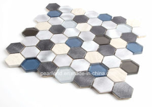 2016 Latest Hexagonal Hot Melt Glass Mosaic with Alumium pictures & photos