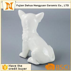 Handmade White Ceramic Dog for Home Decoration pictures & photos