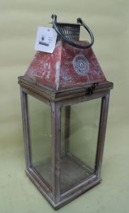 Red Paint Antique Medieval Tower Iron Plating Totem Door Garden Art Lantern pictures & photos