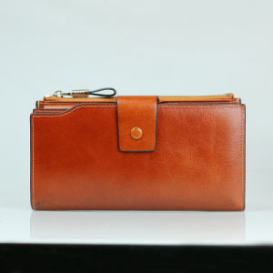 Ladies Fashion Clutch Bag Genuine Leather Long Travel Wallet pictures & photos
