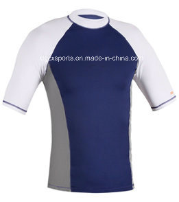 High Elastic Man Lycra Rash Guard pictures & photos