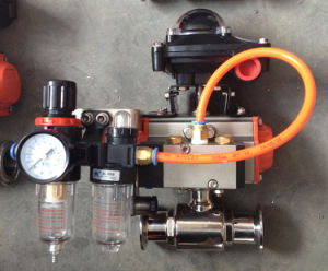 Pneumatic Sanitary Ball Valve with Solenoid Valve, Limit Switch pictures & photos