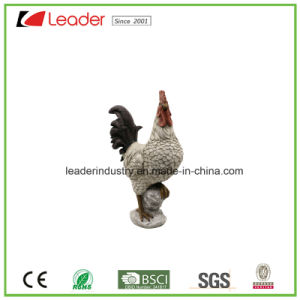 Polyresin Antique White Rooster Figurine for Easter Decoration and Garden Ornament pictures & photos