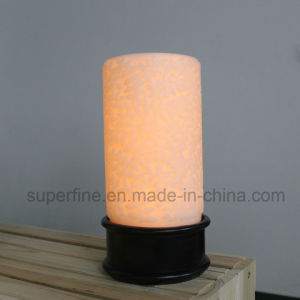 Big 4D Battery Operated Wax Pillar Fragrant Beads LED Candles Mist Diffuser with Wind pictures & photos