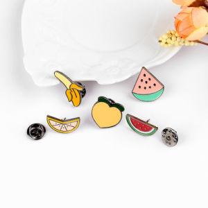 Metal Fruit Watermelon Design Shirt Collar Pin Zinc Alloy Peach&Banana Enamel Brooch Pin Gift pictures & photos