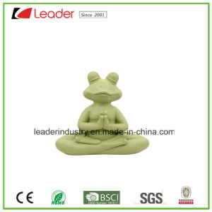 New Design Polyreisn Yoga Frog with Meditation for Home Decoration and Garden Ornaments pictures & photos