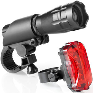 Super Bright Front and Rear Lighting Bike Light Set pictures & photos