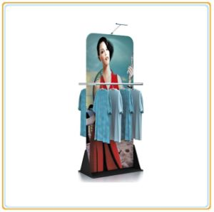 Banner Stand with Clothes Display Rack pictures & photos