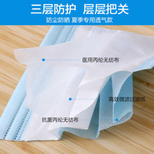 Manufacter Surgical Non-Woven 4-Ply Activated Carbon Face Masks pictures & photos