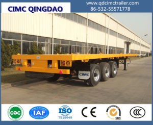 Cimc 40FT 3 Fuwa/BPW Axle Flatbed Container Semi-Trailer pictures & photos