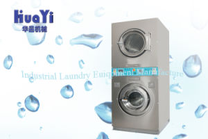 Full Automatic Stainless Steel Coin Operated Commercial Washer with Double Dryer pictures & photos