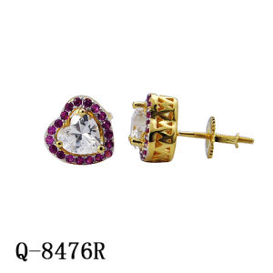 New Arrival Hip Hop Jewelry Silver Diamond Earrings pictures & photos