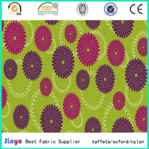 Vogue Multi-Color Polyester Fabric with Flower Printed pictures & photos