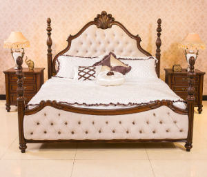 Latest Design Cherry Wood King Size Palace Four Poster Bed pictures & photos