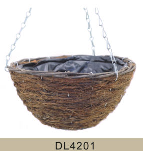 Garden Decorative Rattan Hanging Flower Planter Factory Directly Sell pictures & photos