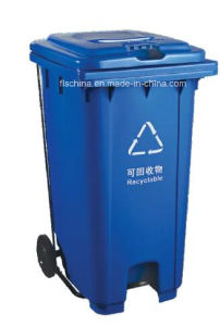 Virgin HDPE Material of 240L Plastic Garbage Bin with Middle Pedal (FLS-240L/HDPE/EN840) pictures & photos