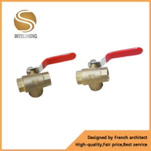 High Quality Brass 3 Way Ball Valve with Polished Surface pictures & photos