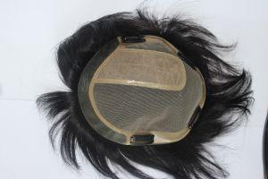 Virgin Human Hair Piece Lace Toupee for Men pictures & photos