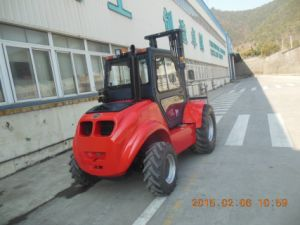 Samuk Hydrostatic 3ton 4WD Forklift with Original Yanmar Engine pictures & photos