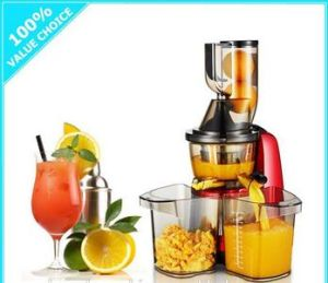 New Arrival 200W AC Induction Motor 80mm Whole Apple Fruit Big Mouth 43 Rpm Cold Press Slow Juicer pictures & photos