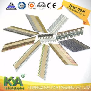 Paper Collated 34 Degree Ring Galvanized Strip Nails pictures & photos