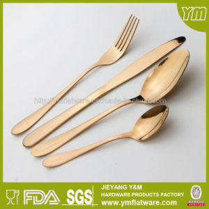 Wedding Gift Stainless Steel Gold Cutlery