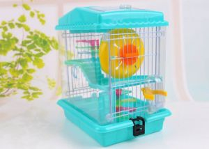 Double Luxury Pet Environmental Protection Plastic Wire Door House Hamster Cage pictures & photos