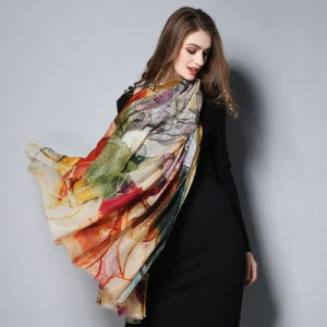 Digital Printing Scarf Shawl for Women