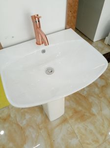 Quality Bathroom Ceramic Standing Basin with Pedestal pictures & photos
